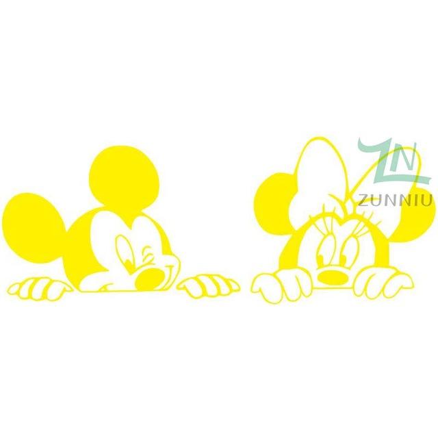 Cartoon Mickey and Minnie Mouse Vinyl Wall stickers – Sarah\'s Homestead