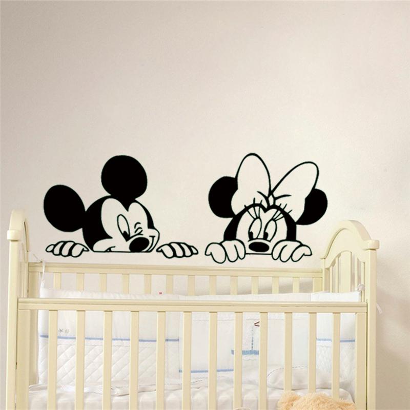 cartoon mickey and minnie mouse vinyl wall stickers – sarah's homestead