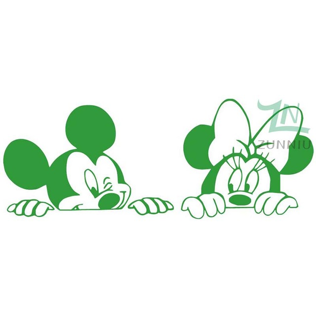 Cartoon Mickey And Minnie Mouse Vinyl Wall Stickers